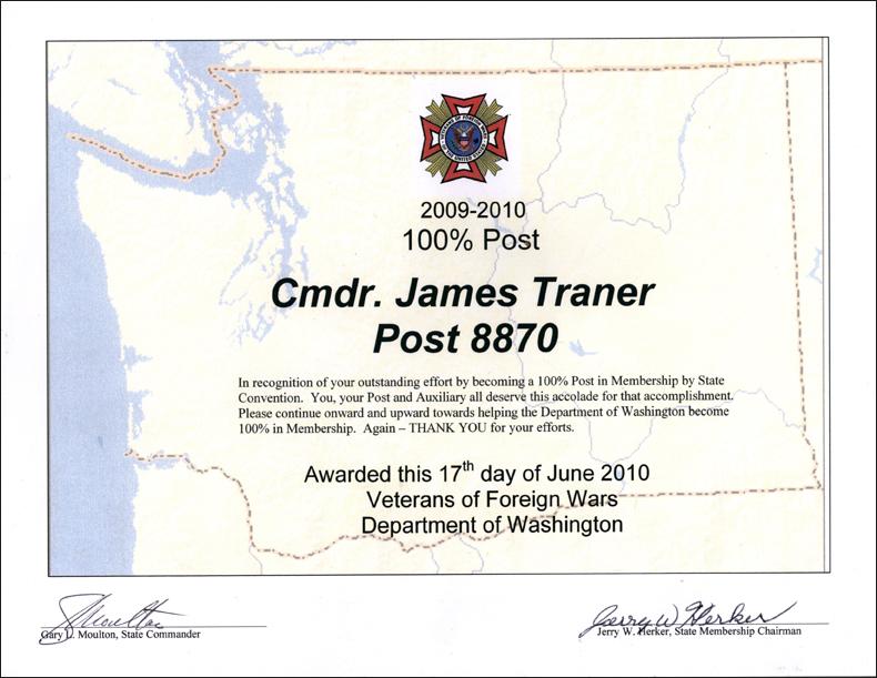 100% Post Award