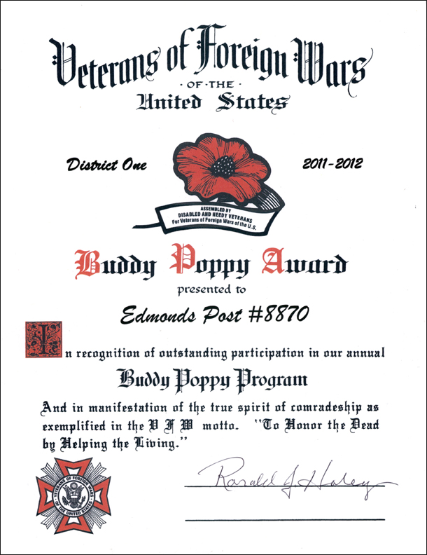 Buddy Poppy Award