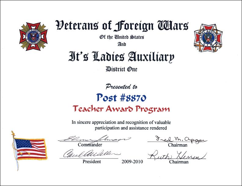 Teacher Award Program