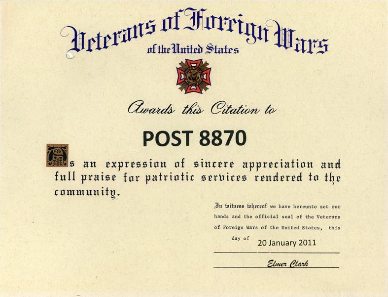 Veterans Award