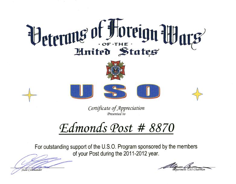 Certificate USO 2011-2012