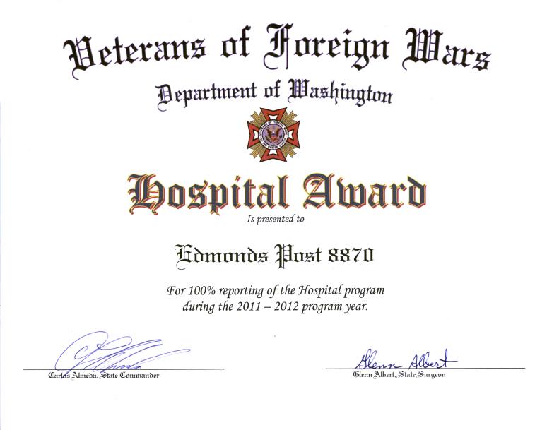 Hospital Award 2011-2012