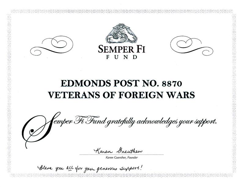 Semper FI Fund Certificate
