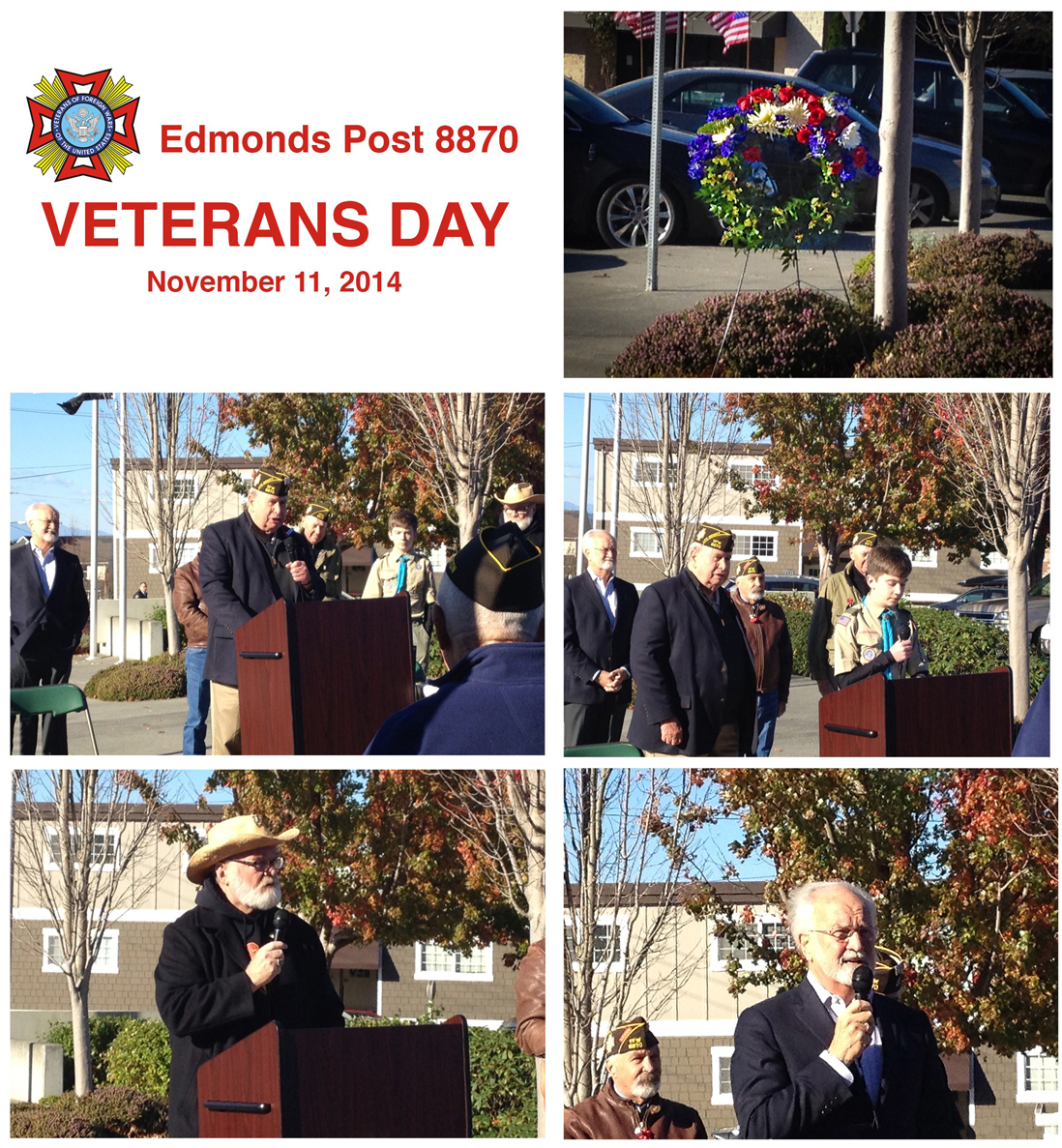 Veterans Day Ceremony at Edmonds Veterans Plaza