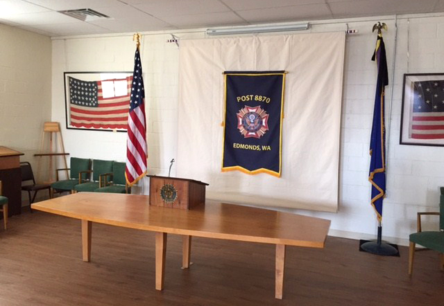 VFW Banner Ready for Next Meeting