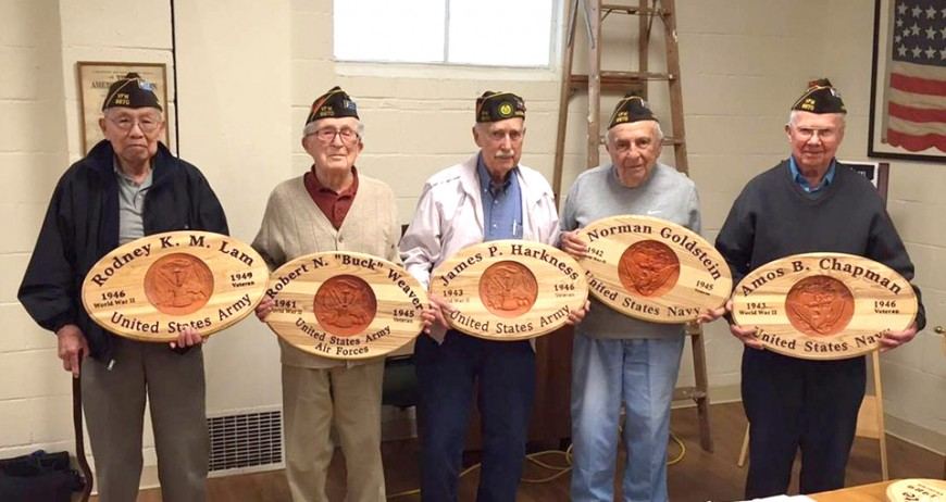 WWII Veterans Recognized with Plaques for Service