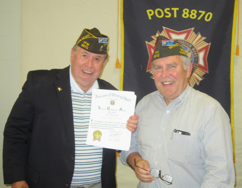 Post Receives Department Recognition