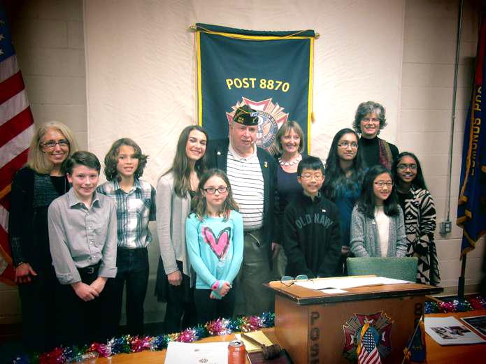 Commander Blossey Congratulates Student Winners