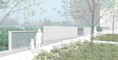 Edmonds Veterans Plaza drawing
