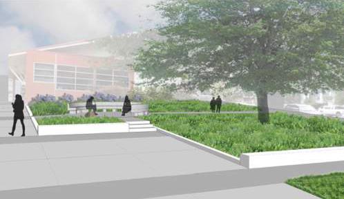 Edmonds Veterans Plaza drawing