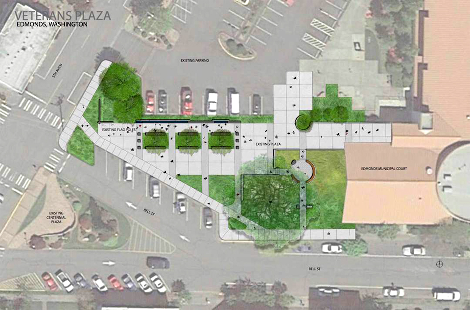 Edmonds Veterans Plaza plan
