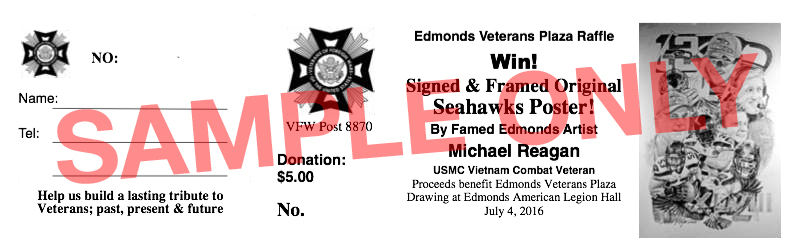 Edmonds Veterans Plaza Raffle