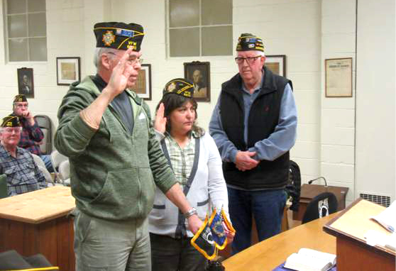 New Post Officers Installed