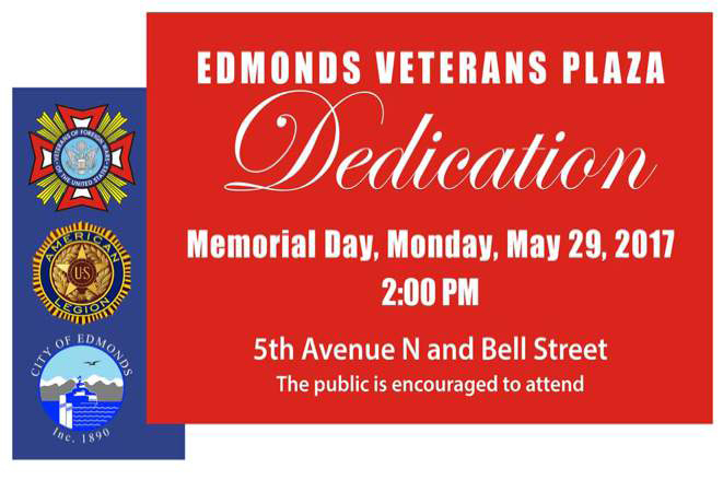 Edmonds Veterans Plaza Dedication