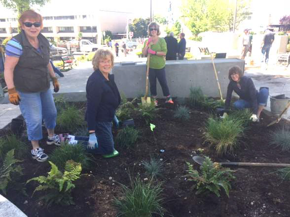 Volunteer Gardeners Prepared Plaza for Dedication