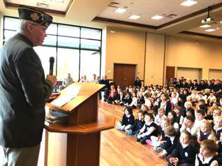 VFW Post 8870 members visit schools Veterans Day week