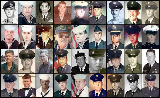 Some of the hundreds of Vietnam War veterans who have suffered from cholangiocarcinoma, (Phto by AP)