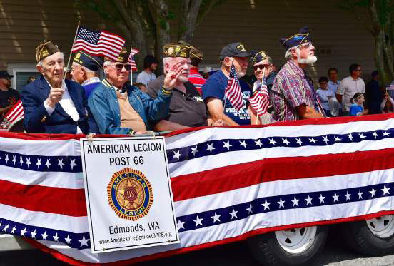 "Post Members Particpate in the 111th ""Edmonds Kind of 4th"" Parade"