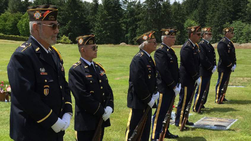 The South Snohomish County Veterans of Foreigh Wars Honor Guard