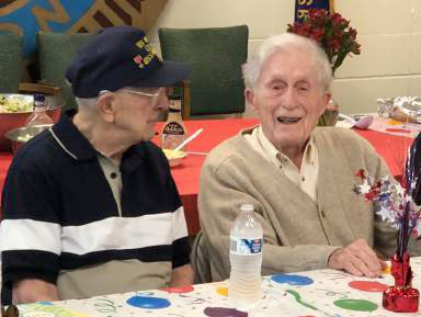 Post Celebrates 100 Years for Ed and Buck WWII Vets Mark Century Birthday