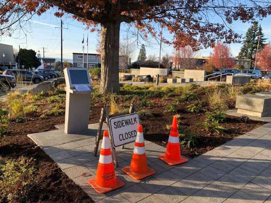 Edmonds Veterans Plaza Update