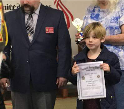 Post Youth Essay Award Winner Takes 2nd Place at District