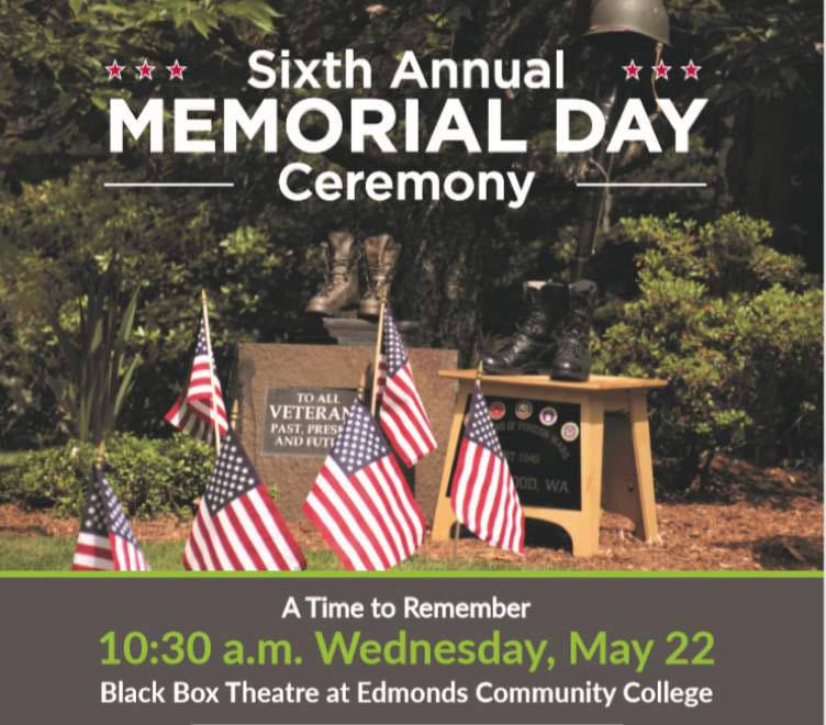 Edmonds Community College Sixth Annual Memorial Day Ceremony