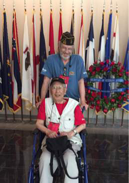 Post Member Brad Andrew Volunteers for Honor Flight