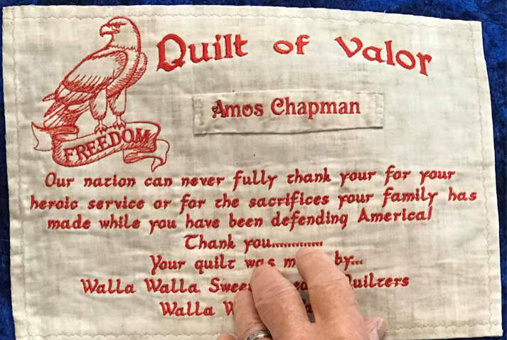 Four Member Veterans Awarded Quilts of Valor