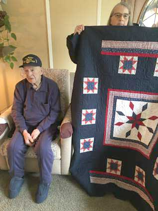 Post 8870 Members Awarded Quilts of Honor.