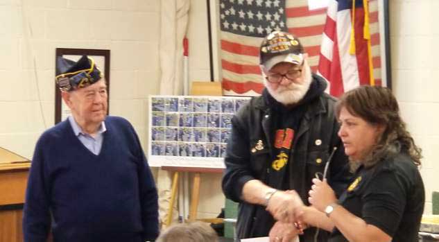 VFW Legion Christmas Party Well-attended. support of his Fallen Heroes Foundation