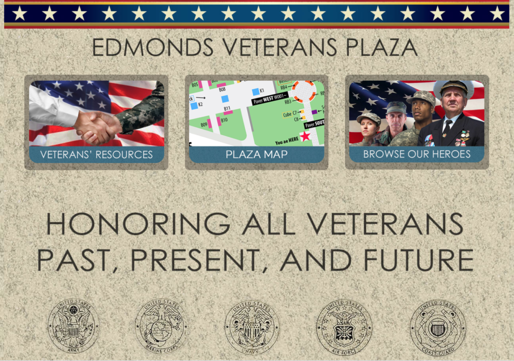 Edmonds Veterans Plaza Kiosk Up & running