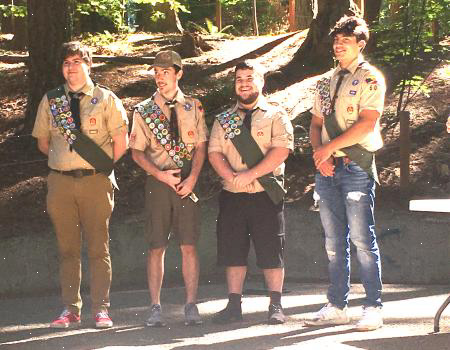 VFW Eagle Scout Certificates Presented
